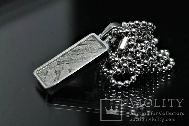 Кулон із залізо-кам'яним метеоритом Seymchan, із сертифікатом автентичності, фото №9