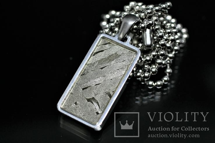Кулон із залізо-кам'яним метеоритом Seymchan, із сертифікатом автентичності, фото №10