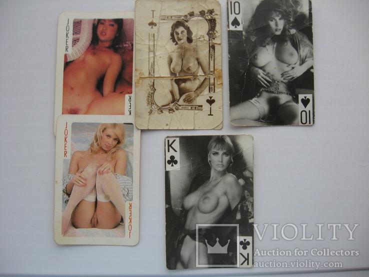 Карты девушки ню,5 шт, фото №2