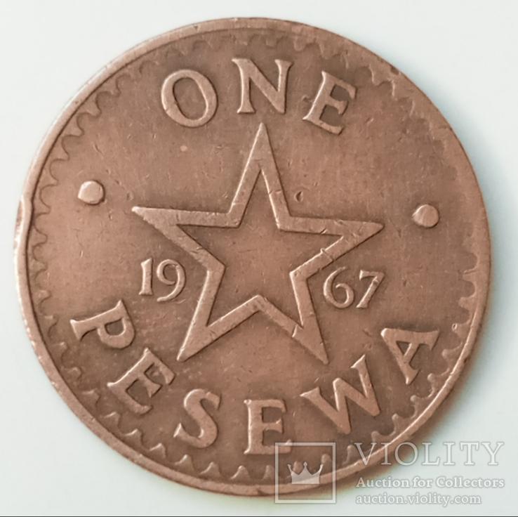 1 песева 1967 г. Гана, фото №3
