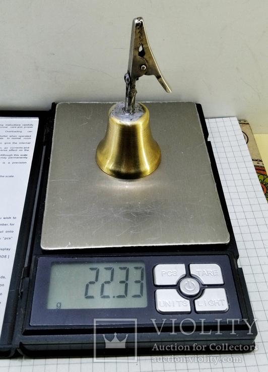 Колокольчик бронзовый с прищепкой, фото №6