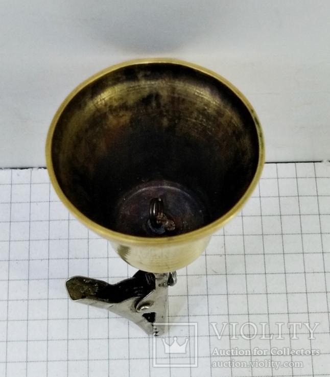 Колокольчик бронзовый с прищепкой, фото №9