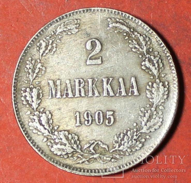 2 марки 1905 год копия (Русско-Финская монета регулярного выпуска), фото №2