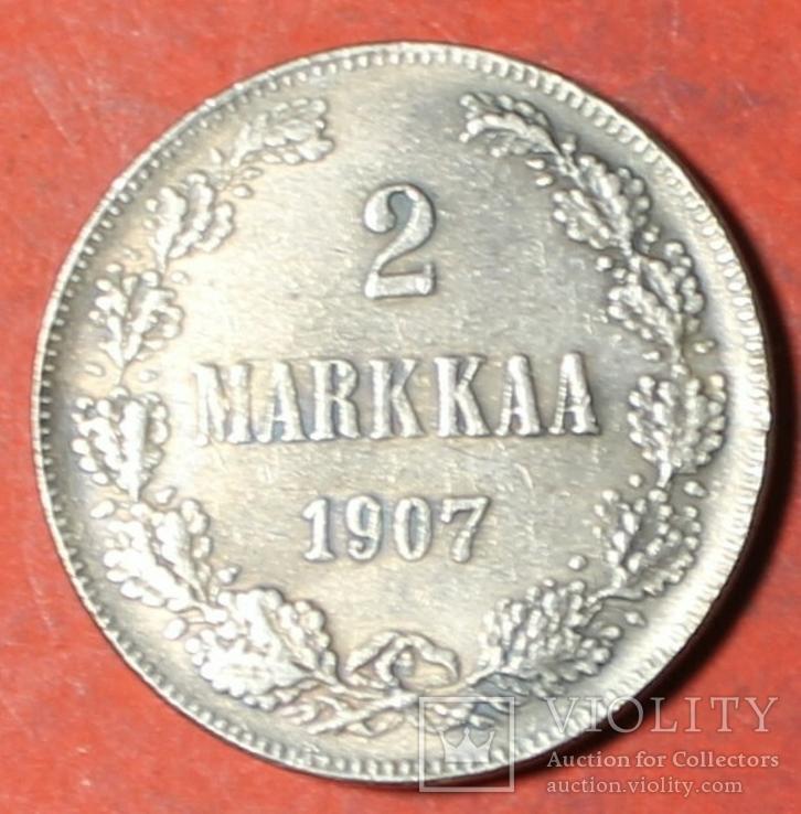 2 марки 1907 год копия (Русско-Финская монета регулярного выпуска), фото №2