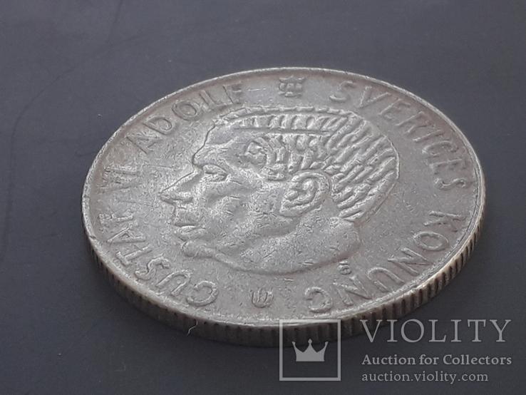 1 крона, Швеция, 1967 год, серебро 0.400 пробы, 7 грамм, фото №4