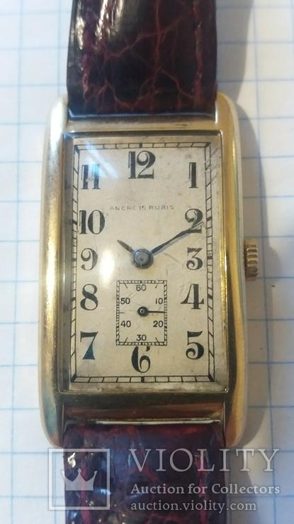 Золотые швейчарские часы 750 пробы ANCRE 15 RUBIS, фото №2