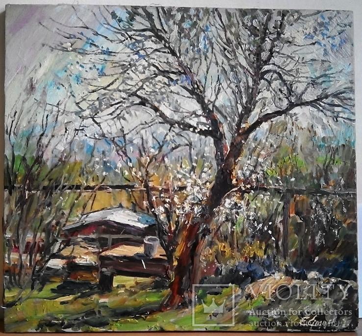 """Евгений Спицевич """"Весна пришла"""", 55х60см (невыкупленый лот), фото №2"""