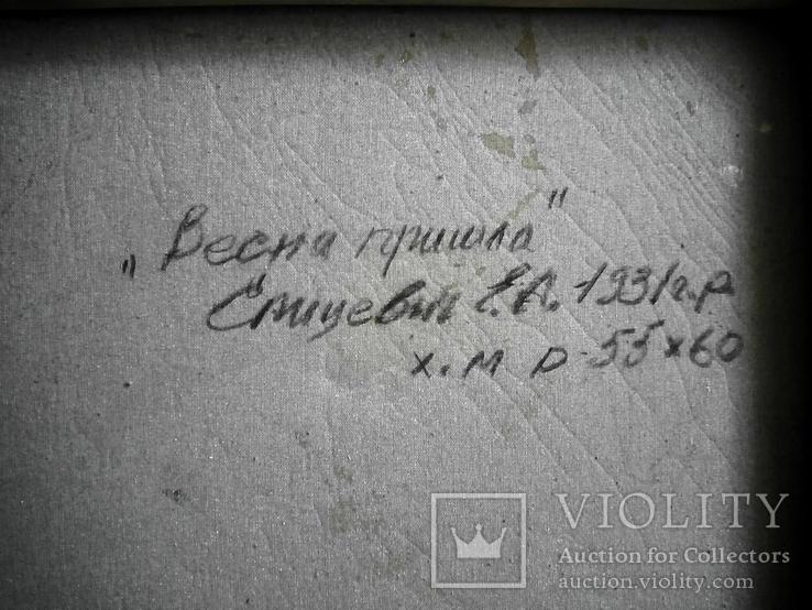 """Евгений Спицевич """"Весна пришла"""", 55х60см (невыкупленый лот), фото №5"""