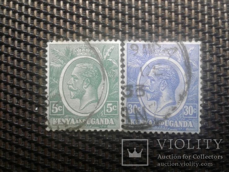 Марки 1922гКения и Уганда.  Клония Британии