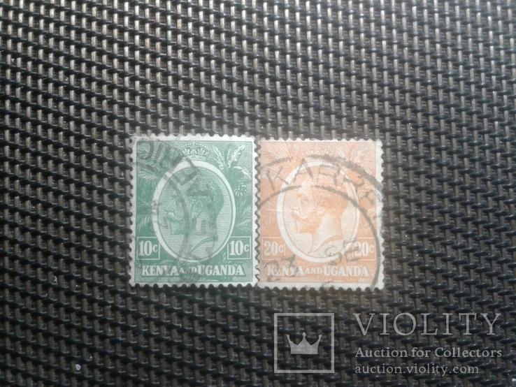 Марки 1922г Кения и Уганда.  Клония Британии