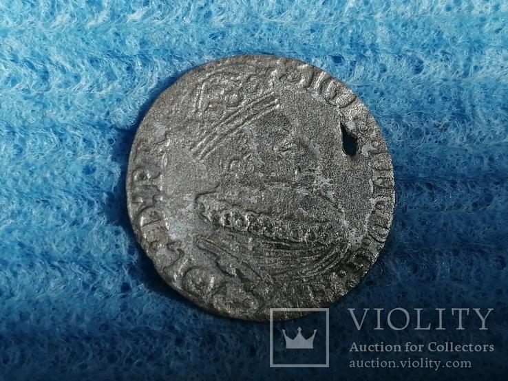 Гданьский грош 1623 года. SB под гербом. Сиг. III Ваза, фото №6