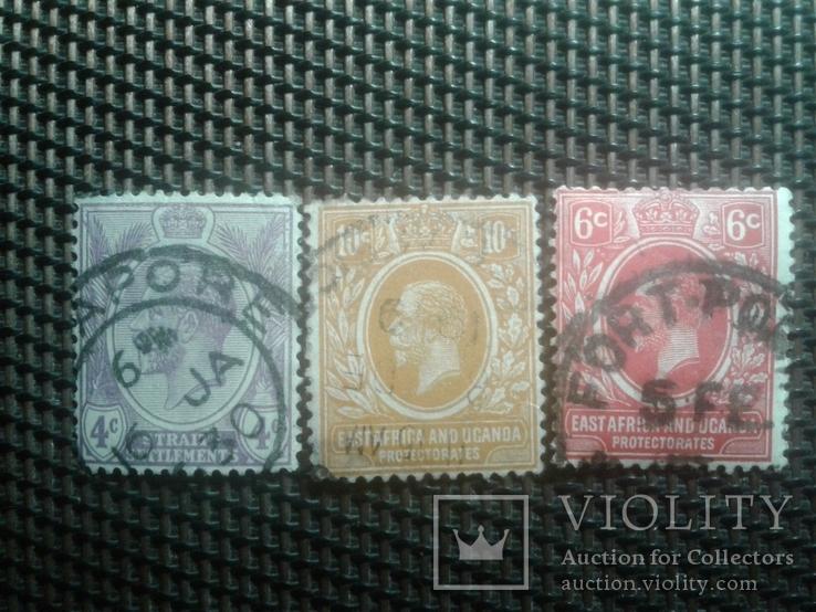 Марки 1922г  Уганда.  Клония Британии