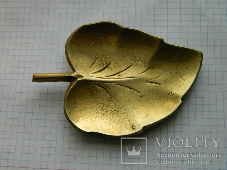 Попільничка, Лист, бронза., фото №4