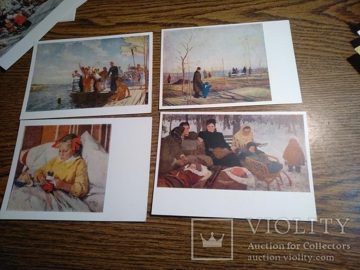 Тетяна Яблонська комплект 12 листівок 1956, фото №5
