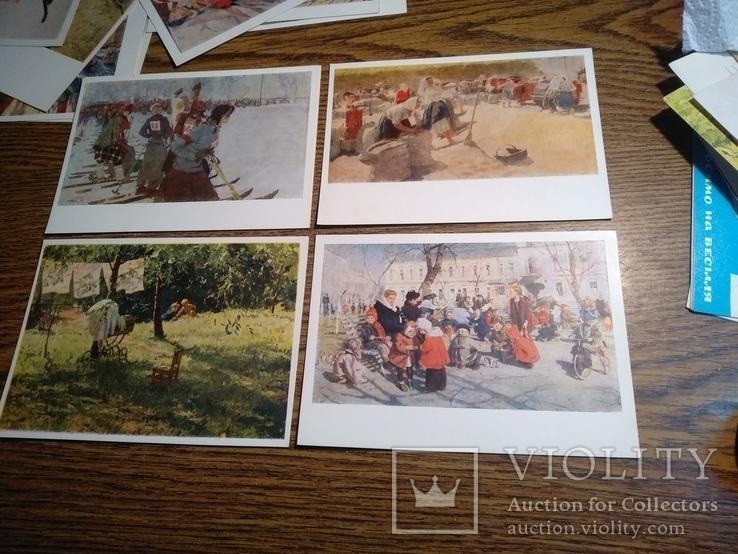 Тетяна Яблонська комплект 12 листівок 1956, фото №6