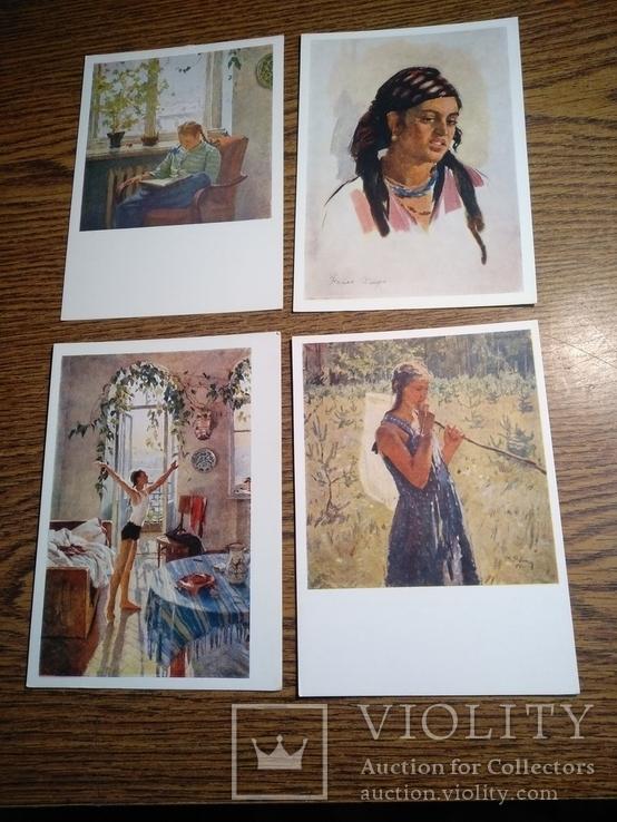Тетяна Яблонська комплект 12 листівок 1956, фото №7