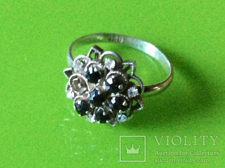 Гарнитур: серьги и кольцо с камнями, фото №7