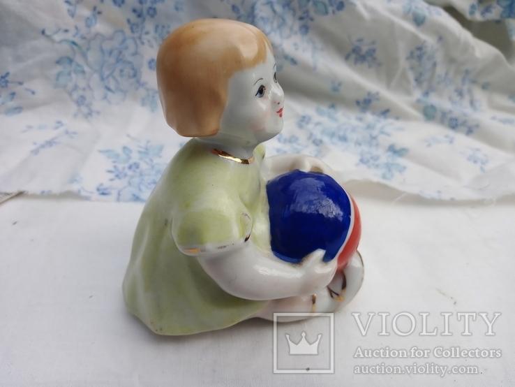 Фигурка девочка с мячом городница 1950 года, фото №12