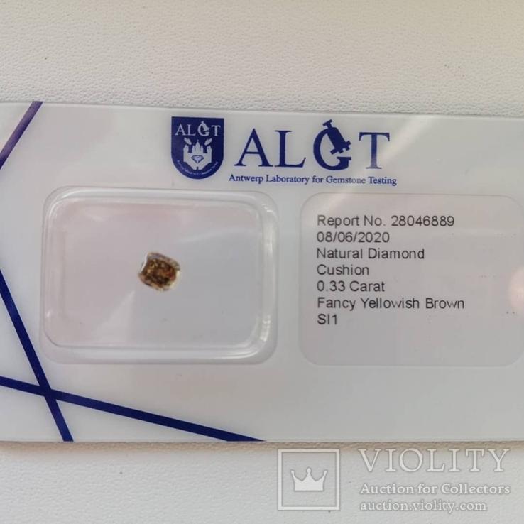 Бриллиант / діамант / 0,33 карат(красивый цвет), фото №3