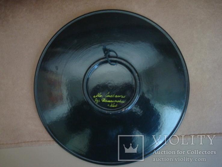 Настенная тарелка,дерево,лак, авт. работа, фото №5