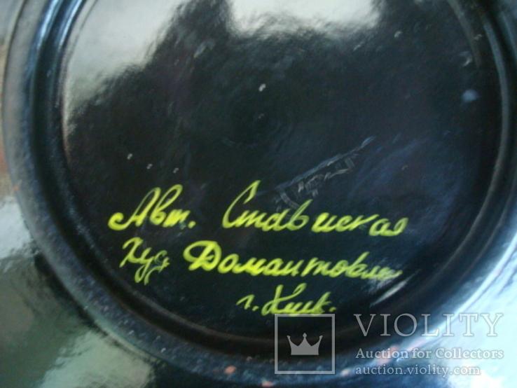 Настенная тарелка,дерево,лак, авт. работа, фото №6