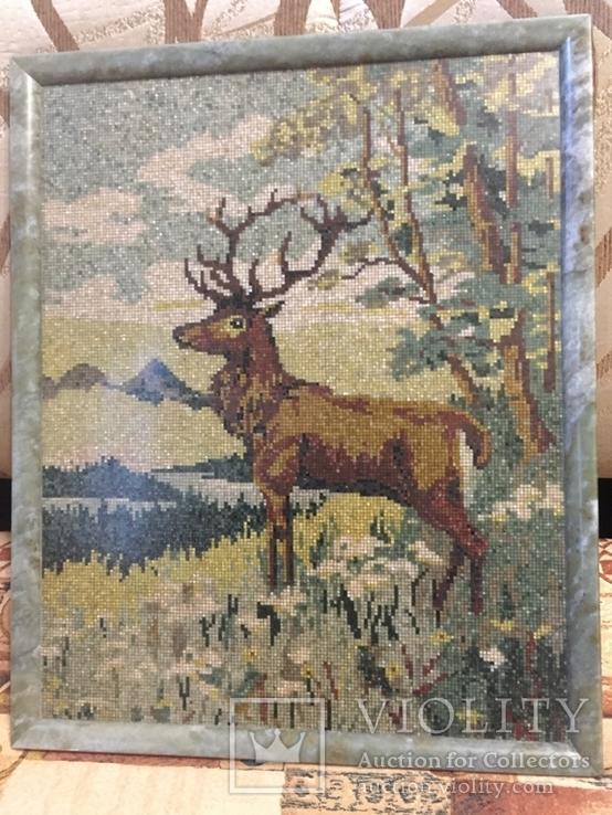 Мозаичное полотно Олень, фото №2