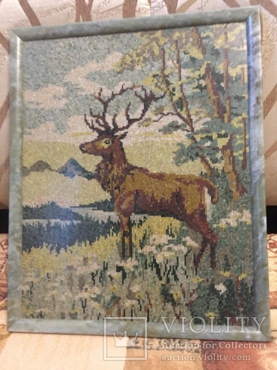 Мозаичное полотно Олень, фото №4