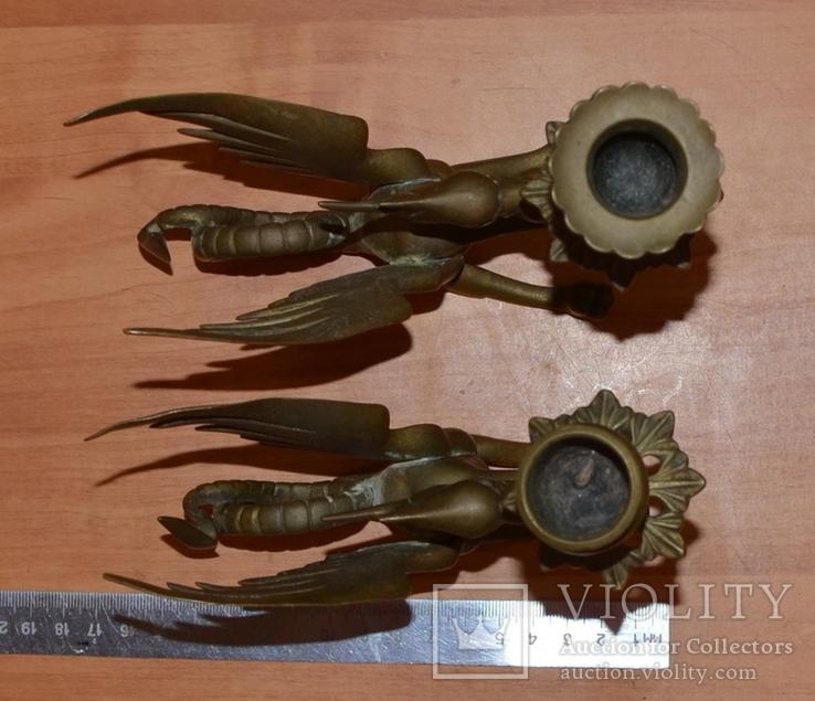 Латунные подсвечники Драконы. Вес 1400 грамм, фото №12