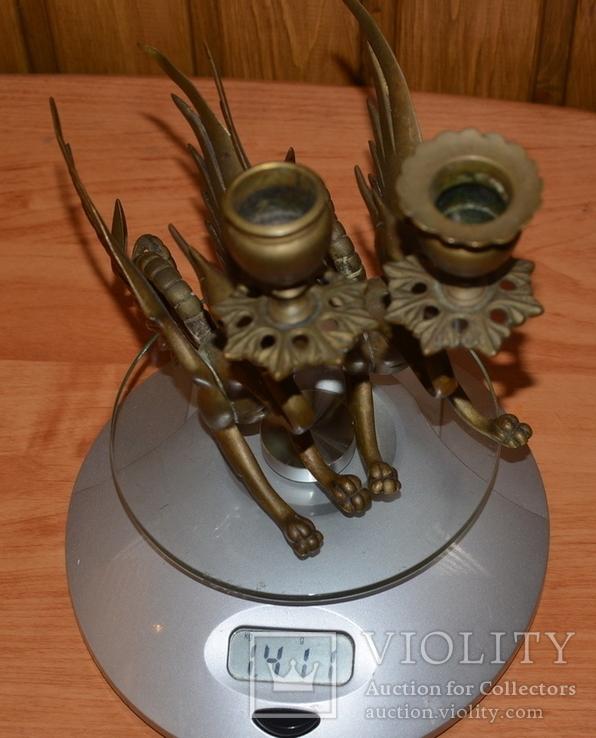Латунные подсвечники Драконы. Вес 1400 грамм, фото №13