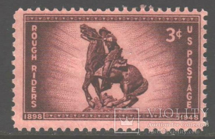 США. 1948. Памятник кавалеристам **.