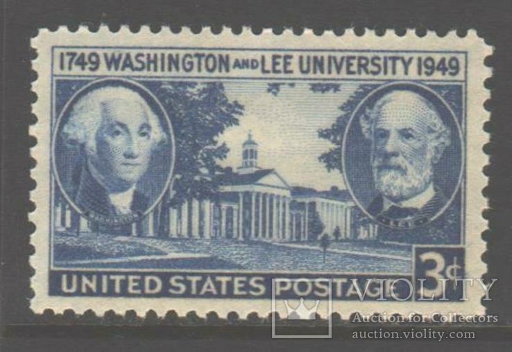 США. 1949. 200-летие университета Вашингтона и Ли **.