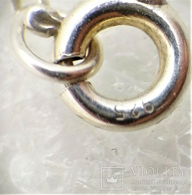 Кулон Алюминиевое Сердце на Серебряной Цепочке Ручная Работа Уэльс, фото №6
