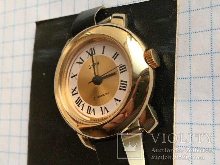 Часы Заря 2009В новые Ау с коробком и паспортом номерные, фото №5