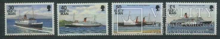 О-в Мэн 1993 корабли (большие номиналы)