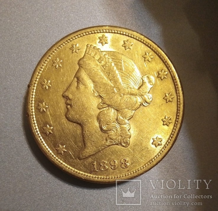 Золота монета 20 $ 1898 рік, 33,4 г