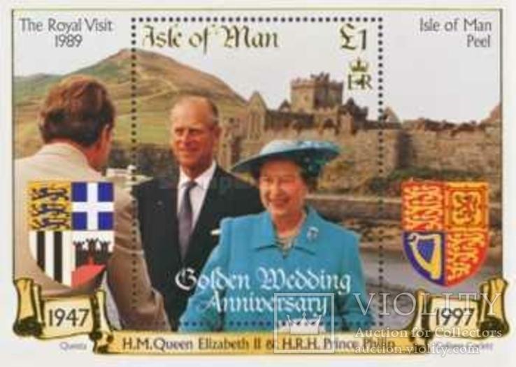 О-в Мэн 1997 БЛ юбилей королевы