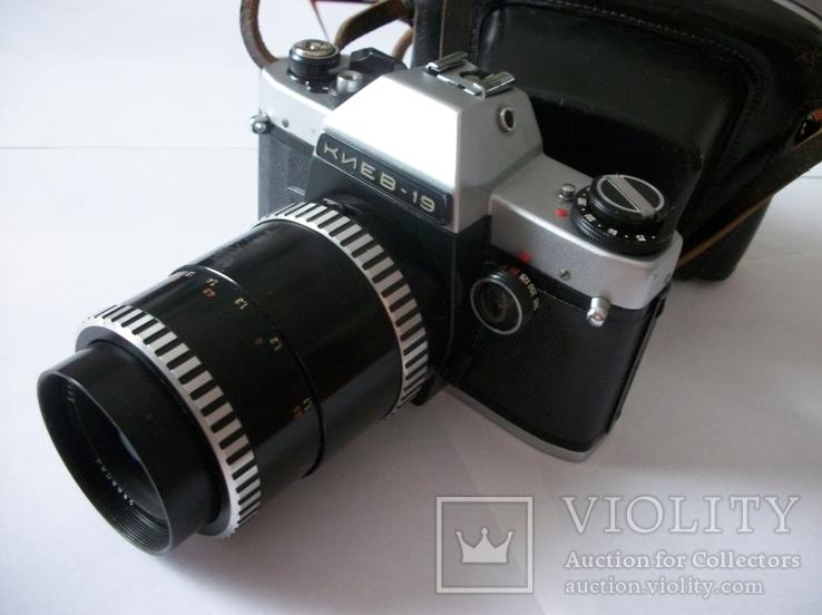 Объектив sonnar 3,5/135 и фотоаппарат киев-19 футляр, фото №2