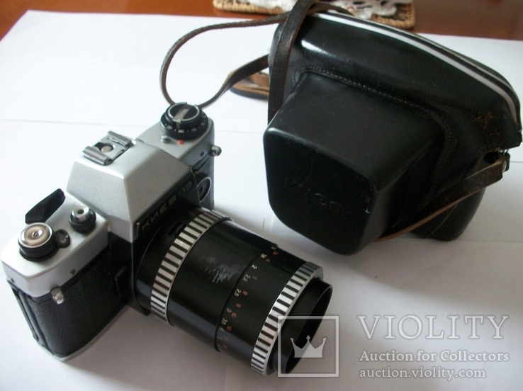 Объектив sonnar 3,5/135 и фотоаппарат киев-19 футляр, фото №4