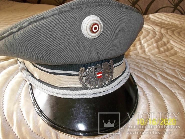 Фуражка  офицерская  австрийская  армия. раз. 56., фото №4