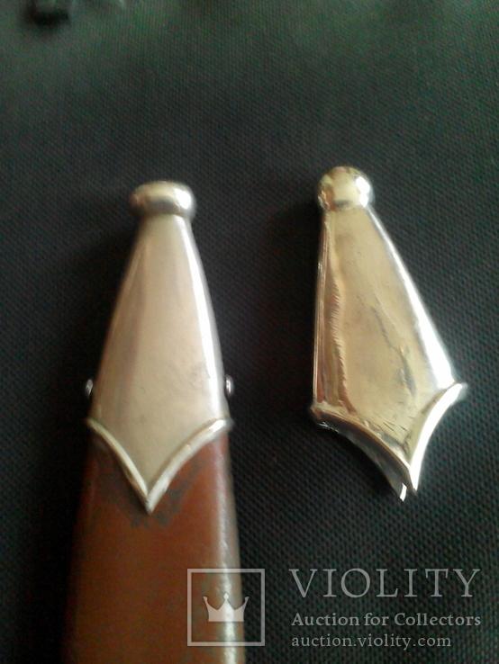 Обойма и стакан на ножны кинжала СС СА копия, фото №9