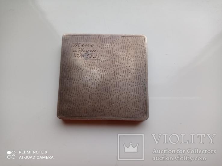 Пудреница серебро 875 пр, фото №2
