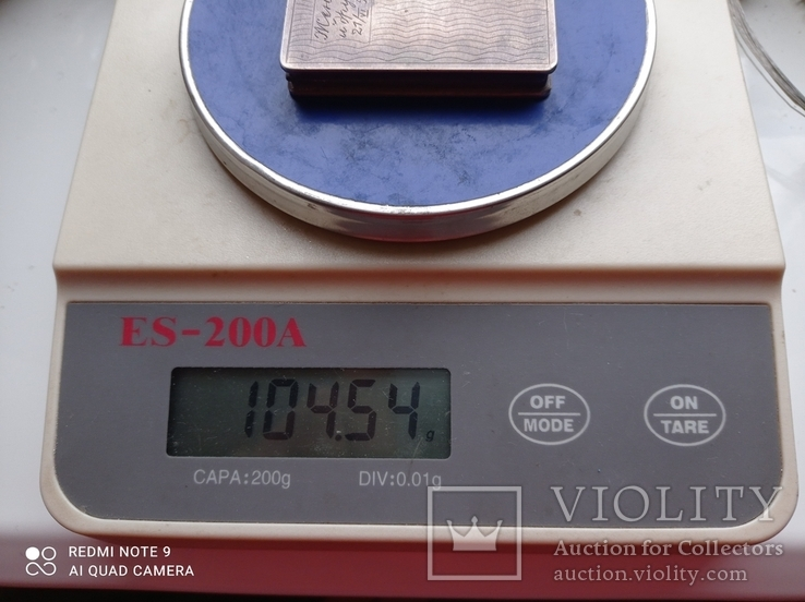 Пудреница серебро 875 пр, фото №5