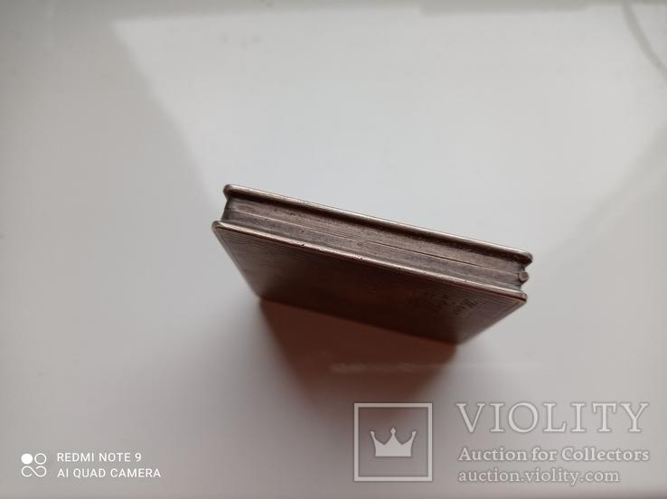 Пудреница серебро 875 пр, фото №6