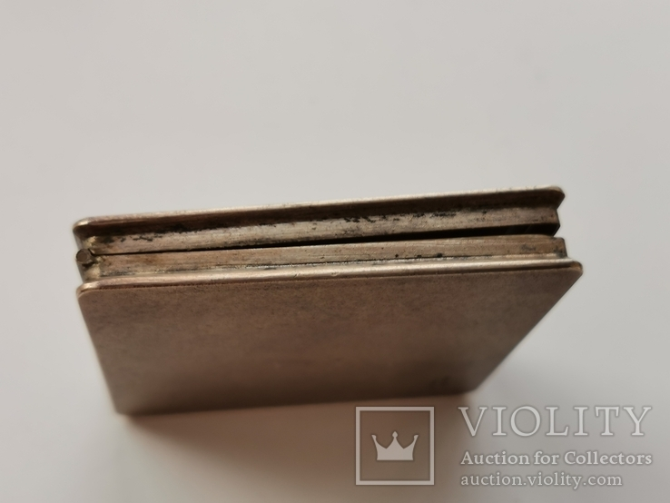 Пудреница серебряная, фото №3