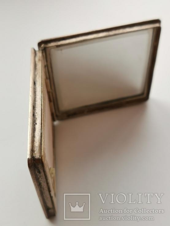 Пудреница серебряная, фото №4