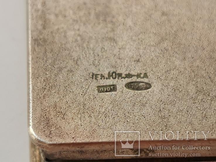 Пудреница серебряная, фото №9