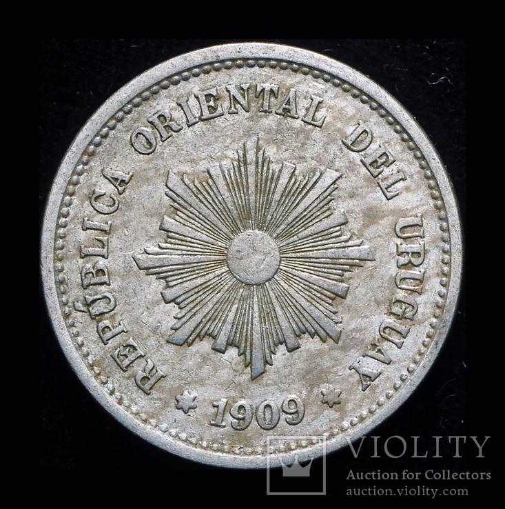 Уругвай 5 сентисимос 1909, фото №2