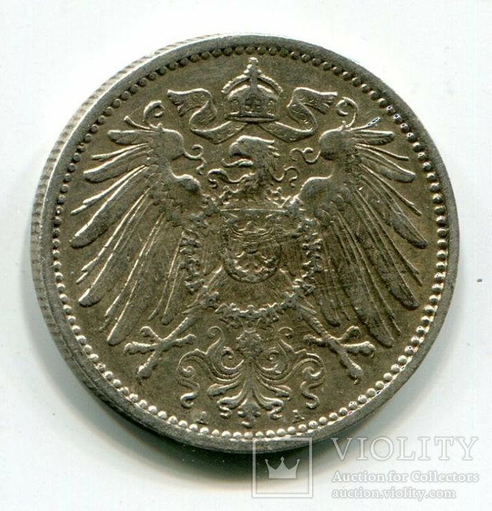 1 марка 1907 г. Монетный двор A, фото №3