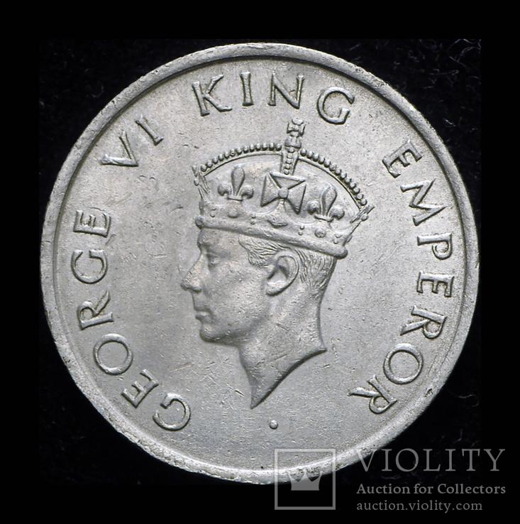 Британская Индия 1/2 рупии 1947 Unc, фото №3