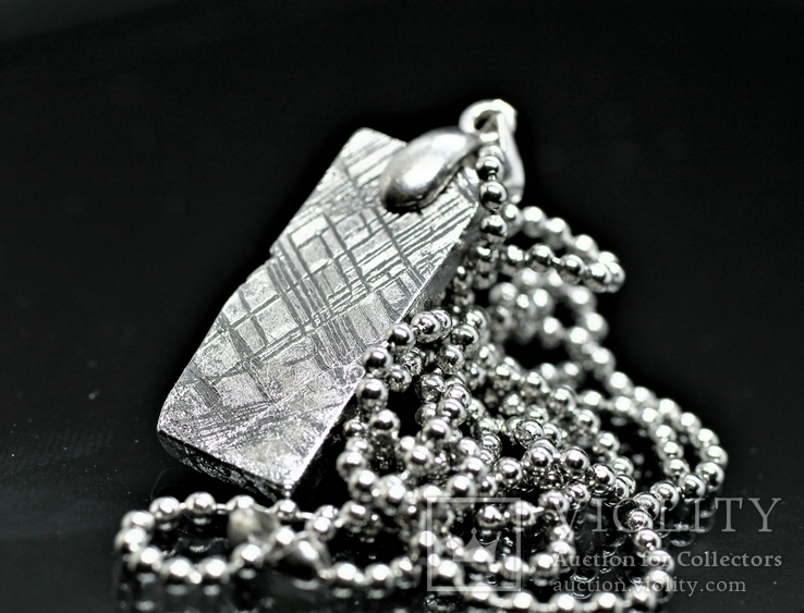 Родований кулон з метеорита Muonionalusta із срібною фурнітурою,  сертифікат автентичності, фото №5